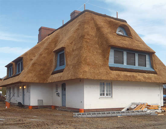 Reet ist ein natürlicher Baustoff, der zum Kulturgut von Schleswig-Holstein gehört (Foto: Ohm)