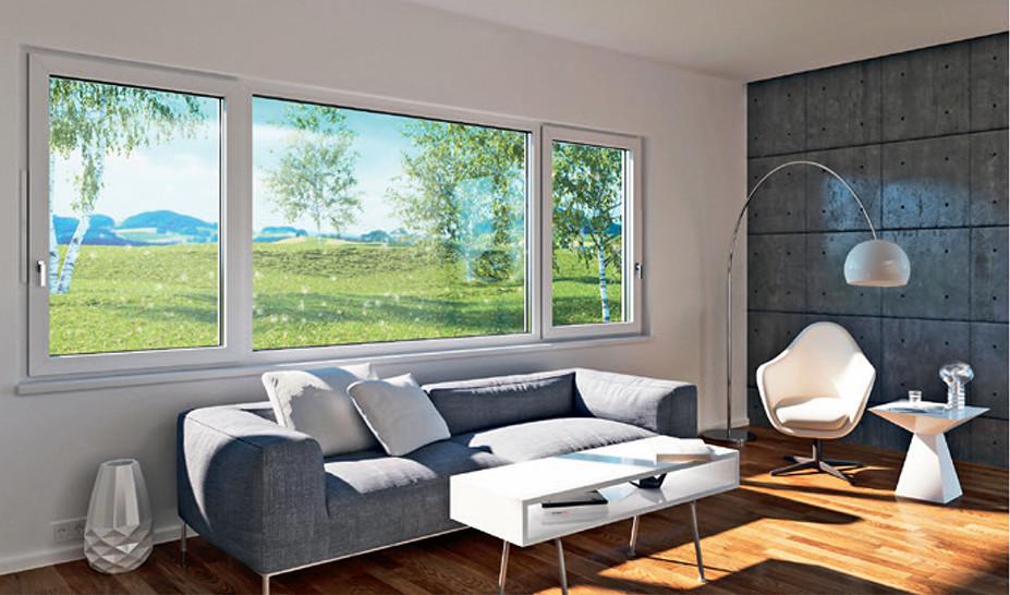 Wohnzimmer Mit Großen Fenstern