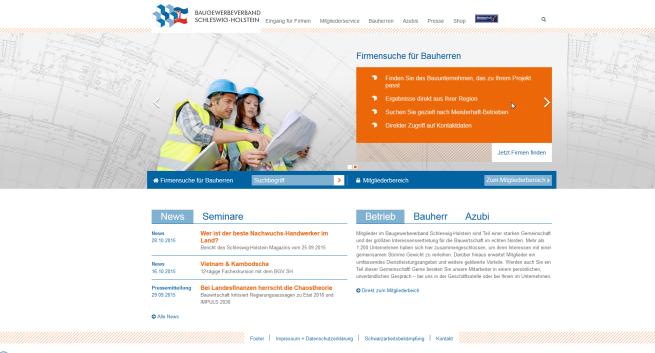 Homepage Baugewerbeverband