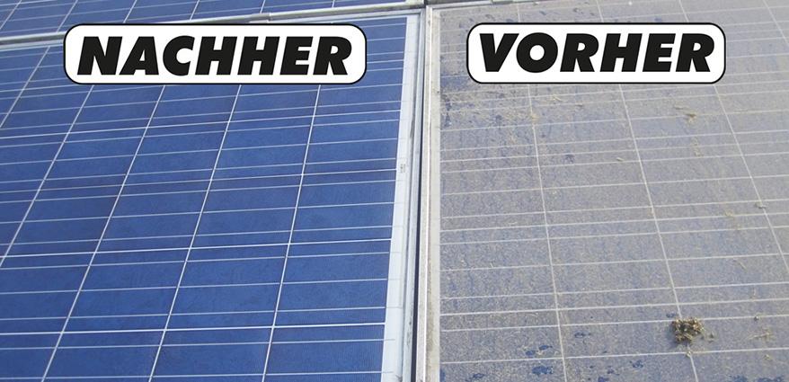 Solaranlage Dreckig Und Sauber