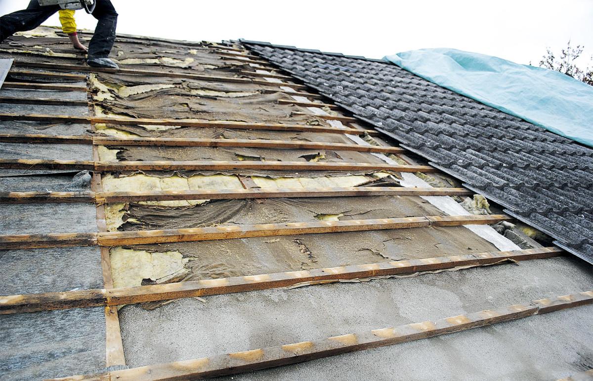 Dach Wird Gedämmt Von Außen