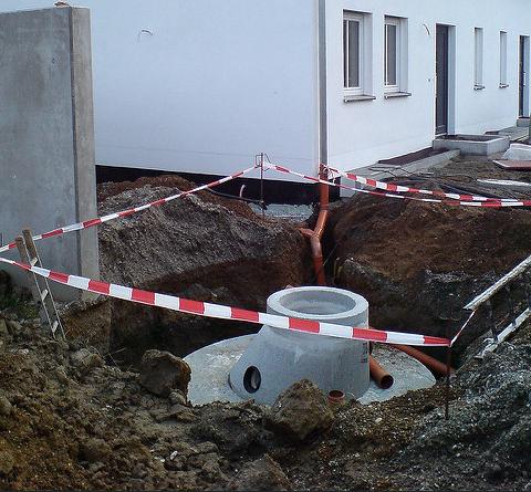 Baustellenabsperrung Zur Sicherheit