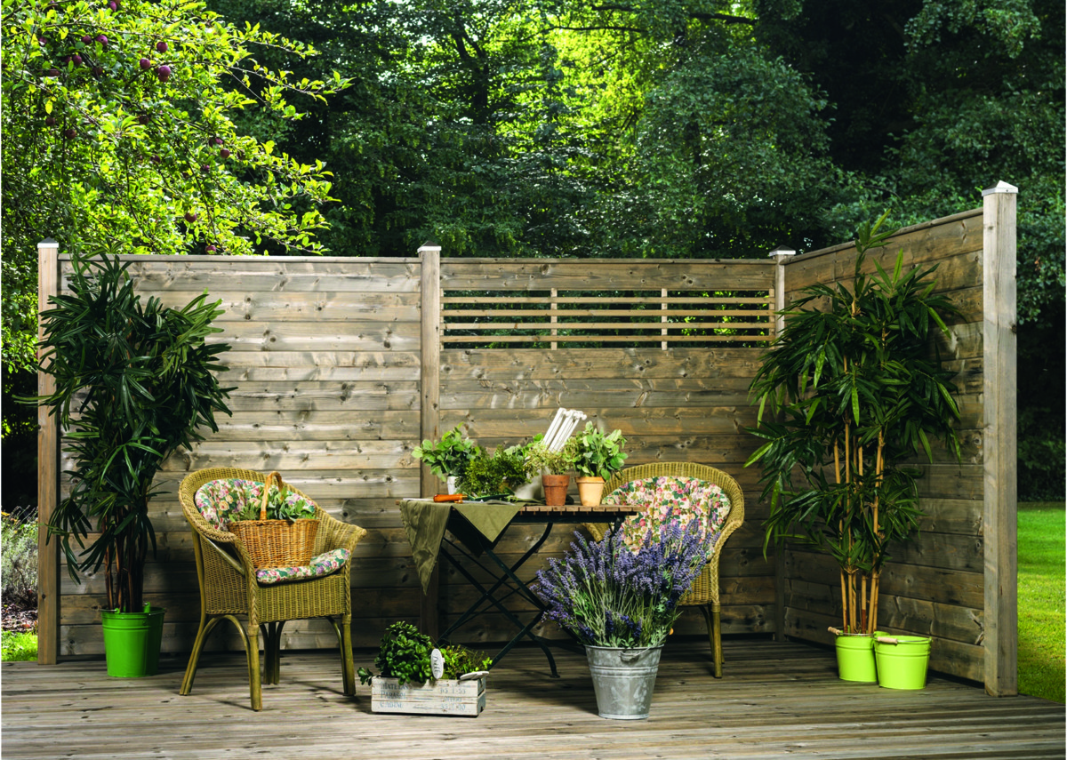 Holz Sichtschutz Für Den Garten