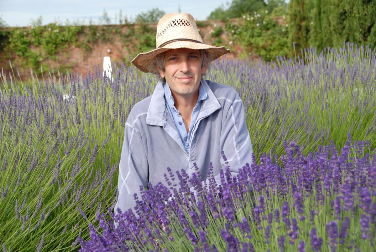 Simon Chalesworth In Mitten Einer Lavendel-Wiese