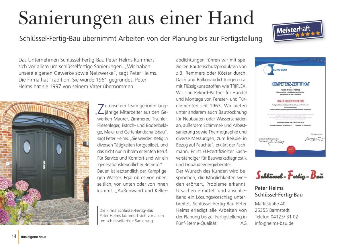 Pressetextanzeige Aus Dem Magazin Von Peter Helms