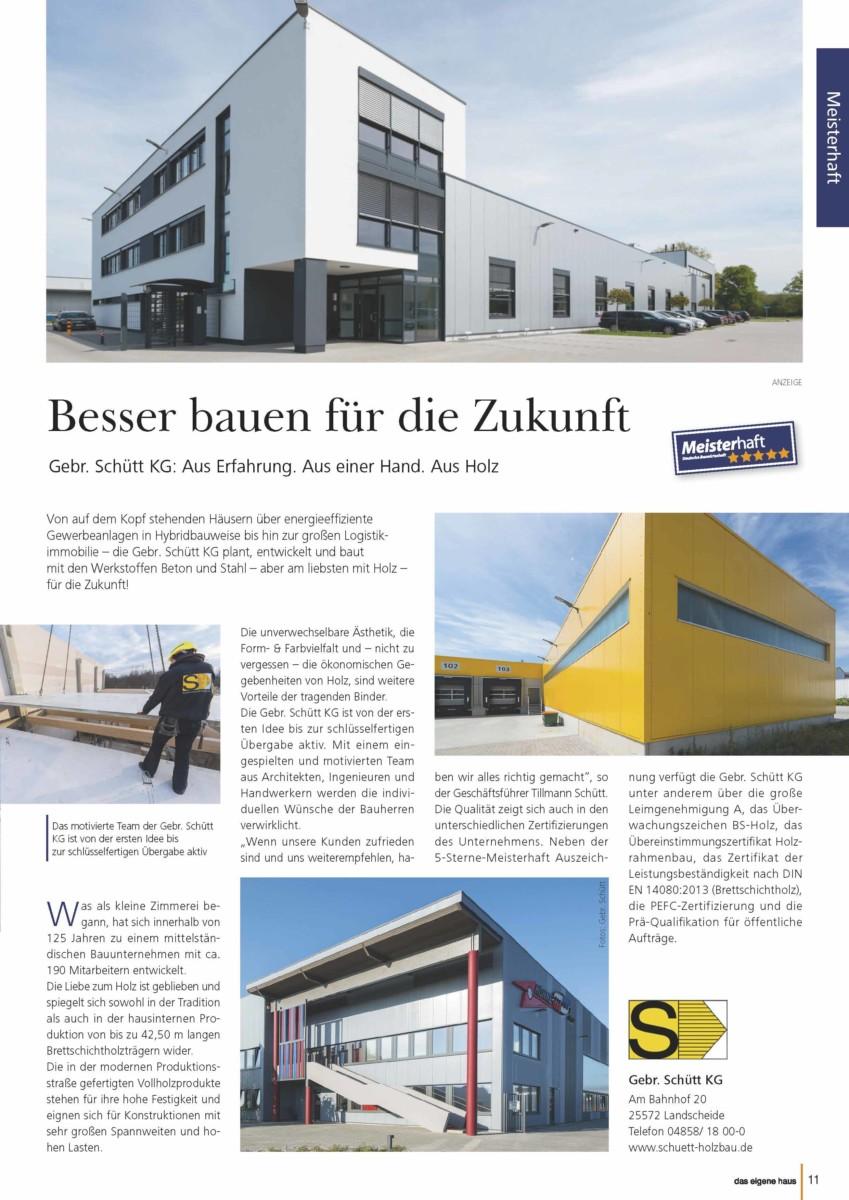 Pressetextanzeige Aus Dem Magazin Von Gebrüder Schütt