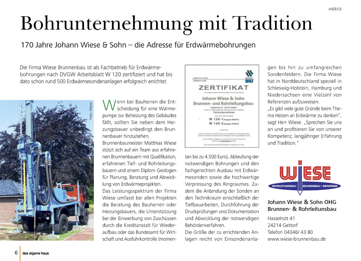 Pressetextanzeige Aus Dem Magazin Johann Wiese