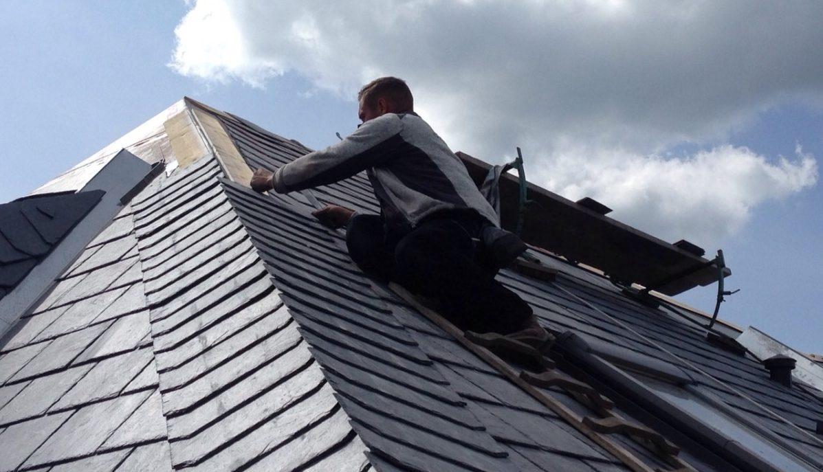 Dachdecker Auf Dach