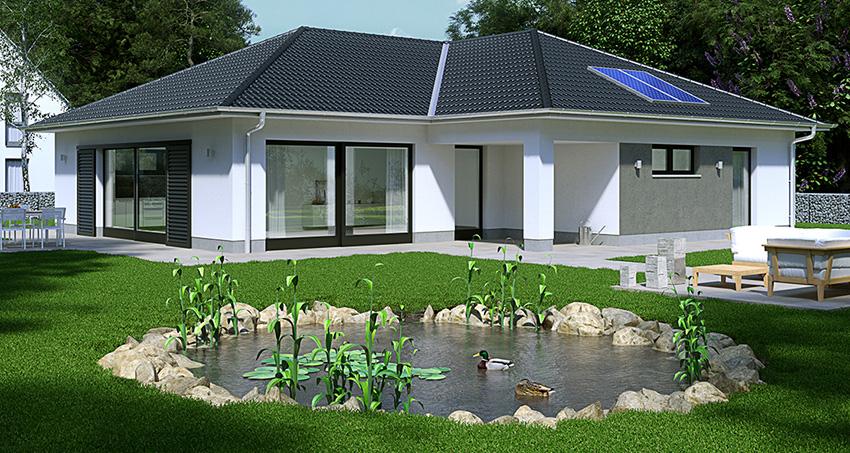 Modelbild Eines Hauses