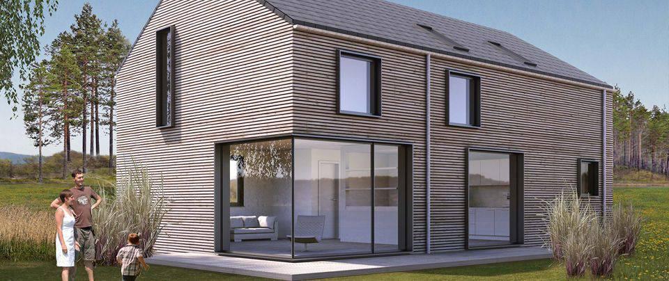 architektenhaus aus holz das eigene haus. Black Bedroom Furniture Sets. Home Design Ideas