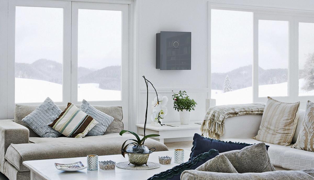 Wohnzimmer Mit Sonnenbatterie