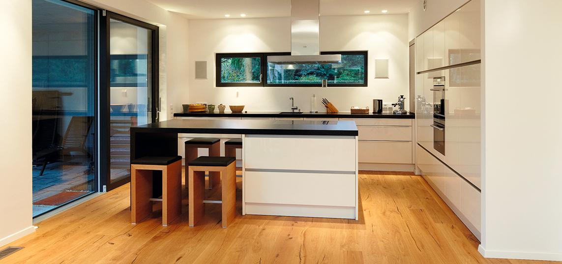 Küche Mit Holzboden