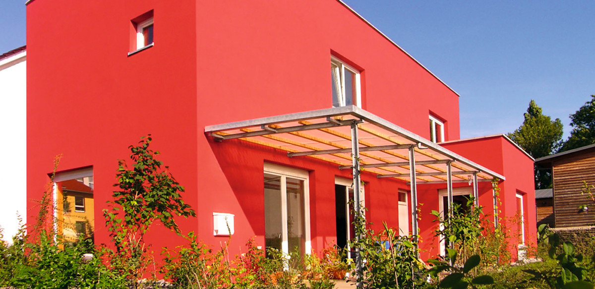 Rotes Haus Im Sommer